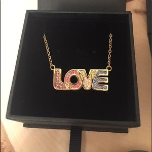 COACH BOXED LOVE NECKLACE